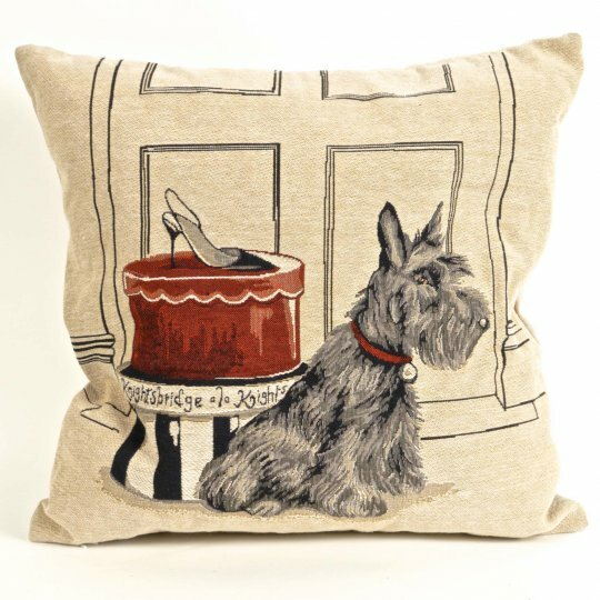 Bonilla Tapestry Terrier Pillow Cover by Red Barrel Studio