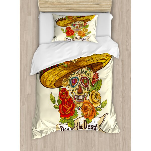 Sugar Skull Duvet Set by East Urban Home