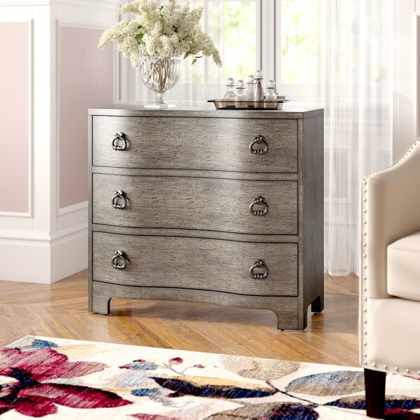 Charlesworth 3 Drawer Accent Chest by House of Hampton