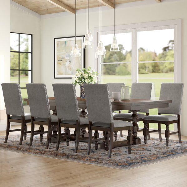 Dublin 9 Piece Extendable Solid Wood Dining Set by Three Posts Three Posts