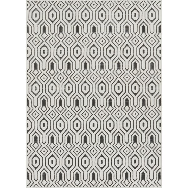 Vicini Tile Work Gray/Beige Area Rug by Wrought Studio