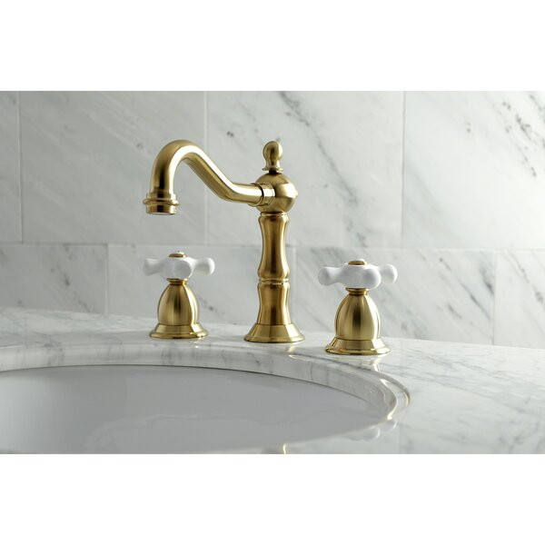 Heritage Widespread Bathroom Faucet with Drain Assembly by Kingston Brass Kingston Brass