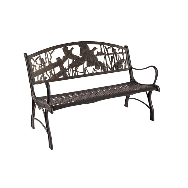 Clements Pheasant Cast Iron Park Bench by Rosalind Wheeler