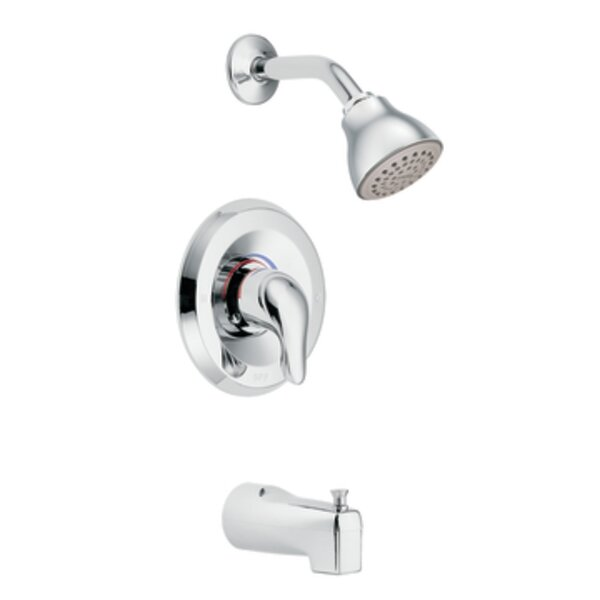 Chateau Thermostatic Tub and Shower Faucet with Lever Handle and Posi-Temp by Moen