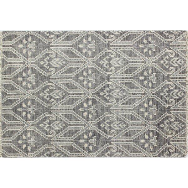 Kurtis Hand-Knotted Grey Area Rug by Mistana