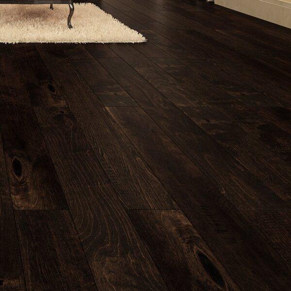 Cove 5 Engineered Birch Hardwood Flooring in Dark Brown by GoHaus