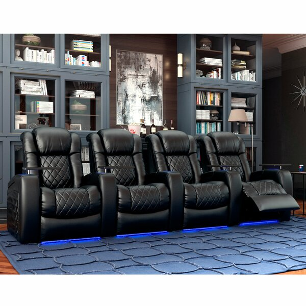 Continental HR Series Home Theater Recliner (Row Of 4) By Red Barrel Studio