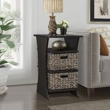 Glines End Table with Storage by Highland Dunes