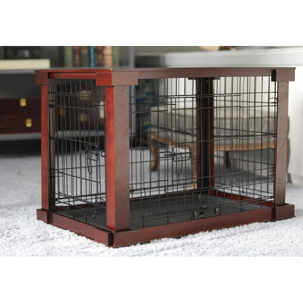 Ansel Deluxe Pet Crate in Brown by Archie & Oscar