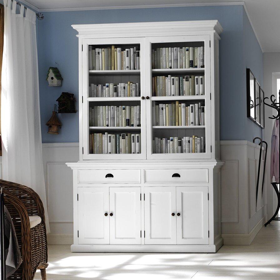 tall white display cabinets wayfair