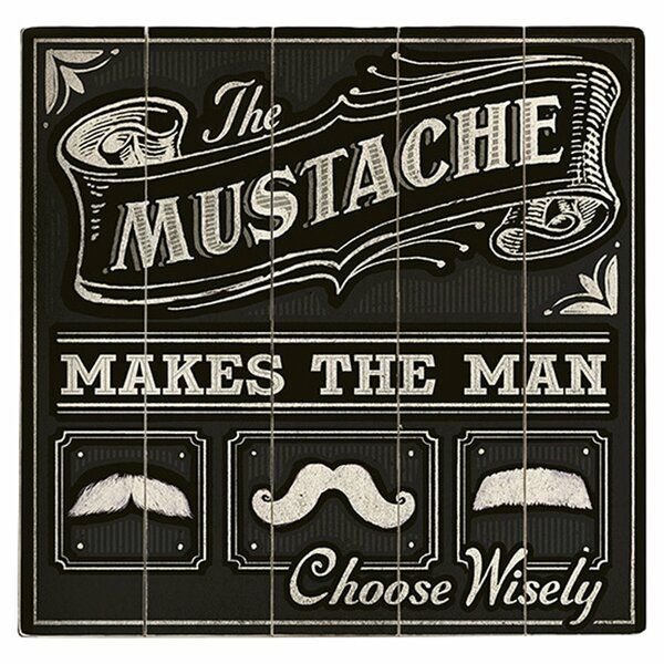 The Mustache Vintage Advertisement Multi-Piece Image on Wood by Artehouse LLC