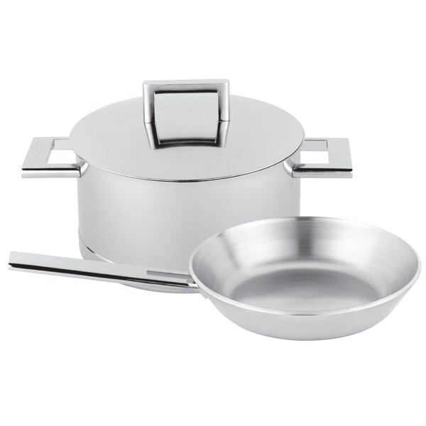 John Pawson 3-pc Stainless Steel Cookware Set by Demeyere