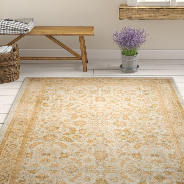 Erwin Light Blue/Gold Area Rug by Ophelia & Co.