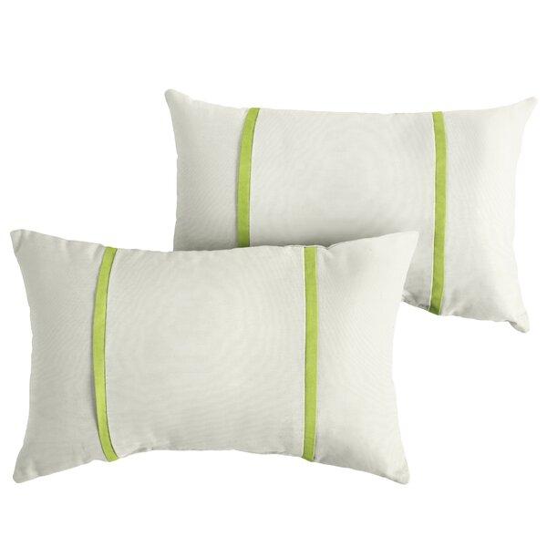 Forst Indoor/Outdoor Sunbrella Lumbar Pillow (Set of 2) by Charlton Home