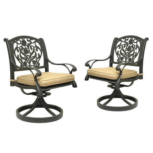 Camptown Rocking Chair with Cushion (Set of 2) by Fleur De Lis Living