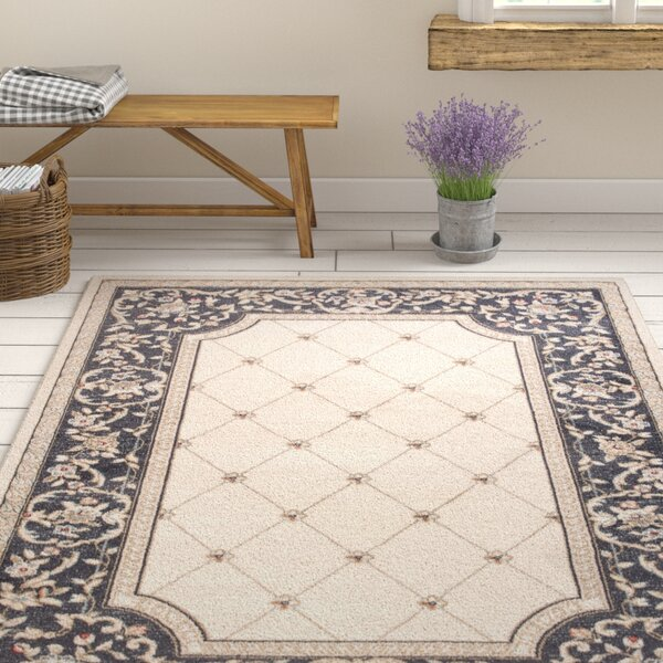 Vianney Courtyard Ivory/Gray Area Rug by August Grove