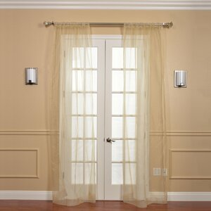 Annabel Organza Solid Sheer Rod Pocket Curtain Panel Pair