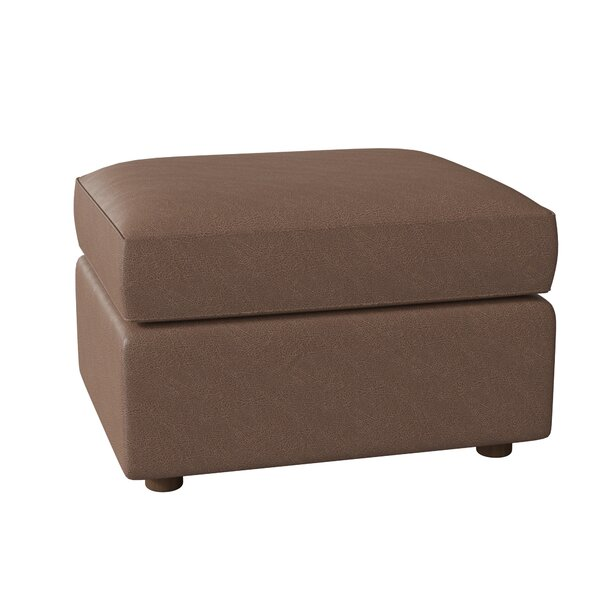 Dabria Leather Cocktail Ottoman By Millwood Pines