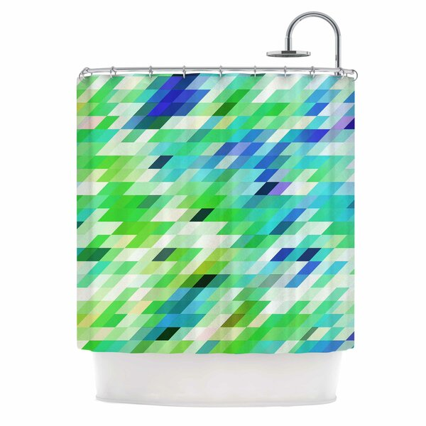 Dawid Roc Colorful Summer Geometric Abstract Shower Curtain by East Urban Home