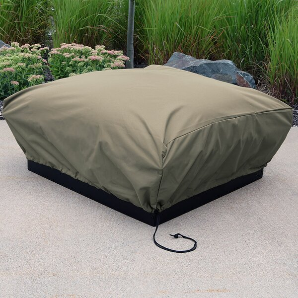 Heavy Duty Square Khaki Fire Pit Cover by Freeport Park