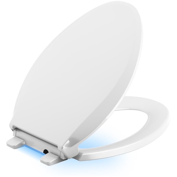 Cachet Nightlight Quiet-Close with Grip-Tight Elongated-Front Toilet Seat by Kohler