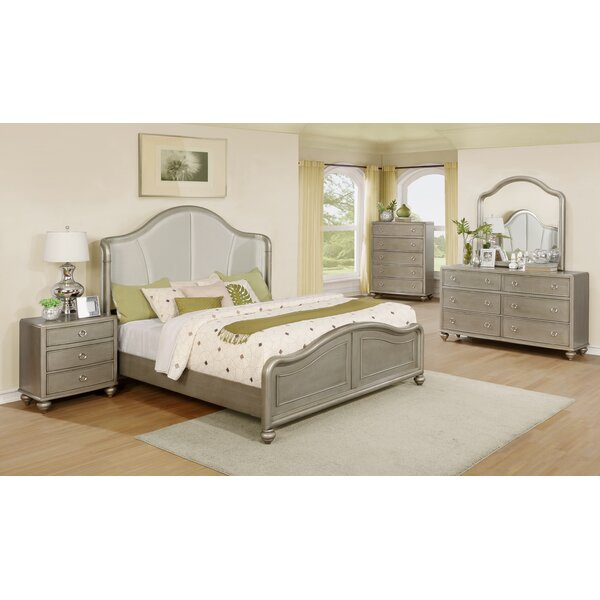 Aiden Platform 5 Piece Bedroom Set by Roundhill Furniture