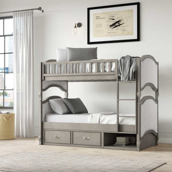 Platte Twin Over Twin Bunk Bed with Drawer by Greyleigh