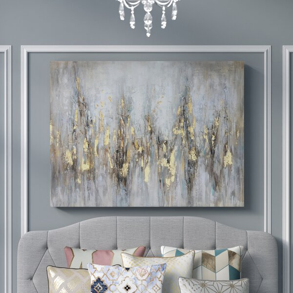 Blue Grey Brown Artwork for Walls Diptych Abstract Painting Set of 2 Prints 2 Piece Wall Art Living Room Wall Decor Over the Couch Art