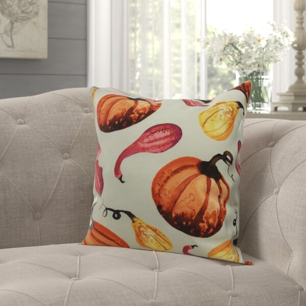 Hoyle Gourds Galore Fall Print Throw Pillow by August Grove