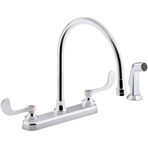 1.8 Gpm Triton Bowe 1.8 Gpm Kitchen Sink Faucet With 9-516 In. Gooseneck Spout Matching Finish Sidespray Aerated Flow And Wristblade Handles By Kohler