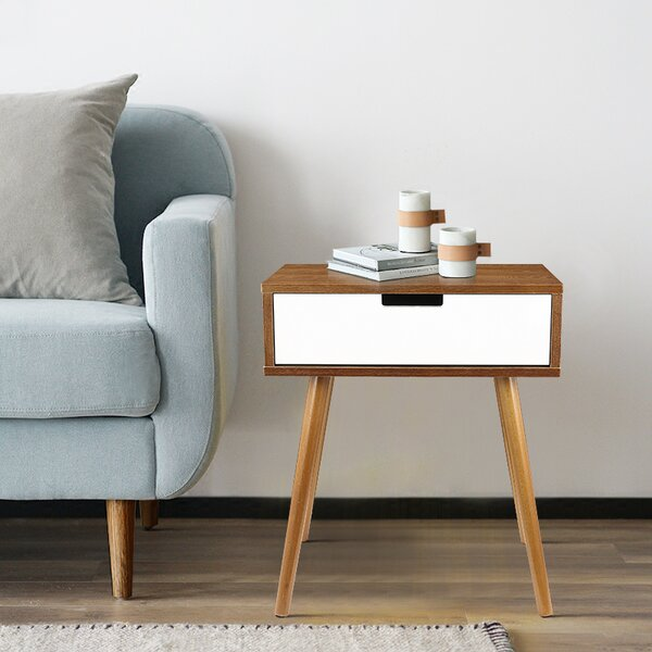 Balderas End Table with Storage by George Oliver