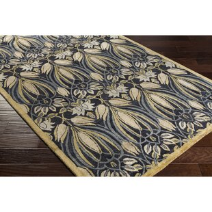 Compare & Buy Acton Hand-Knotted Wool Black Area Rug ByAlcott Hill