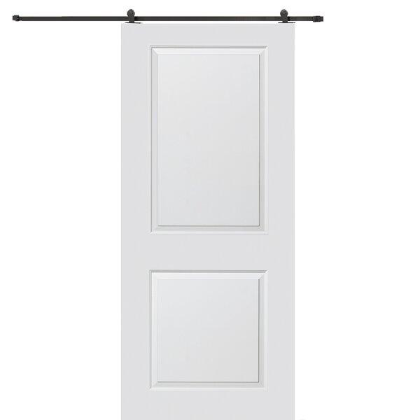 Carrara Smooth Surface Solid Panel MDF Interior Barn Door by Verona Home Design