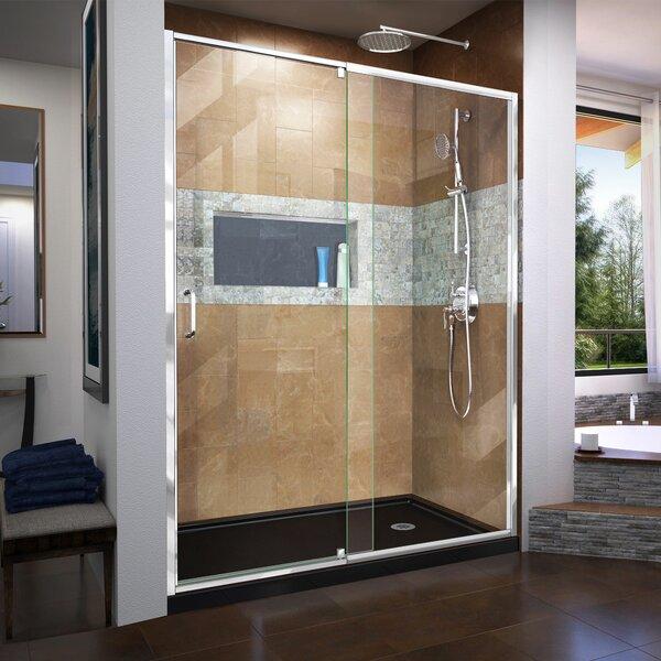 Flex 56-60 in. W x 72 in. H Semi-Frameless Pivot Shower Door by DreamLine