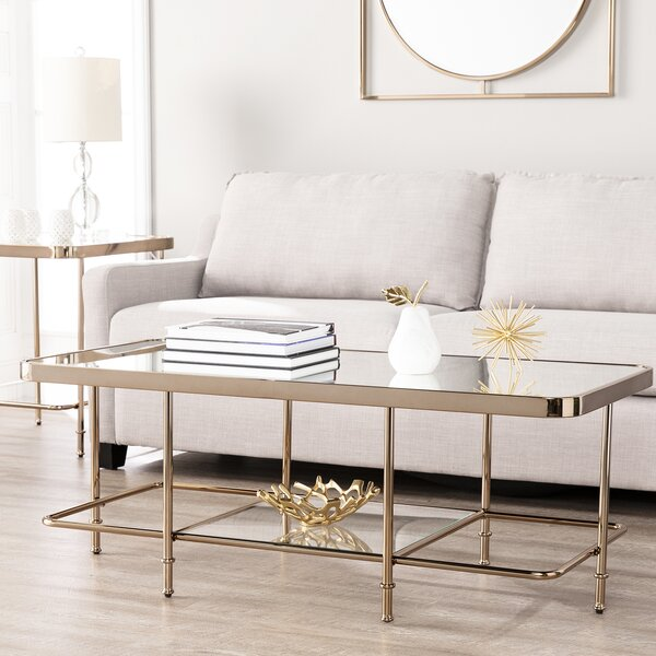 Kimberlin Mirrored Coffee Table by Mercer41