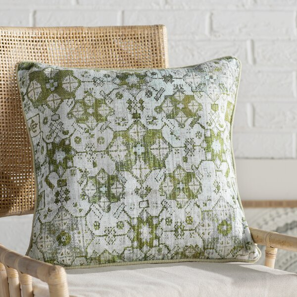 Gardner Square Cotton Throw Pillow by Mistana