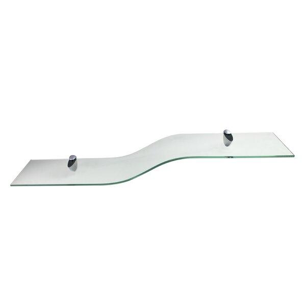 Curvo Glass Wall Shelf by Wallscapes