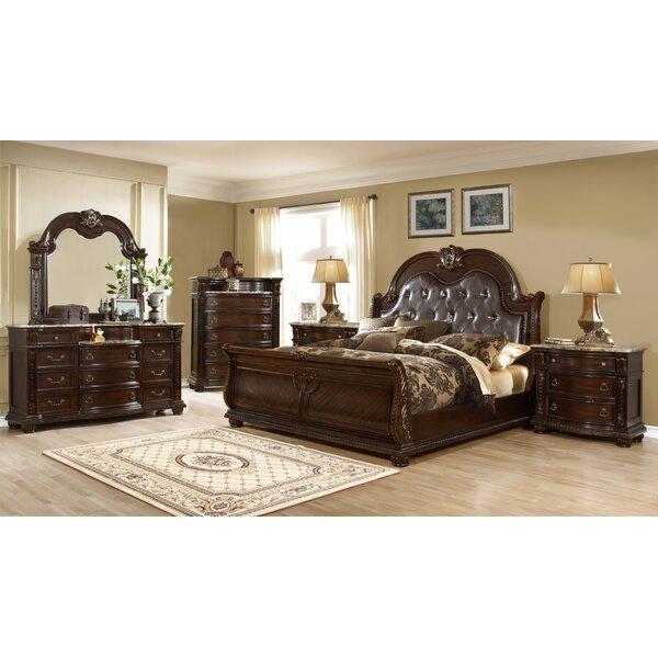 Hollman Sleigh 4 Piece Bedroom Set by Astoria Grand