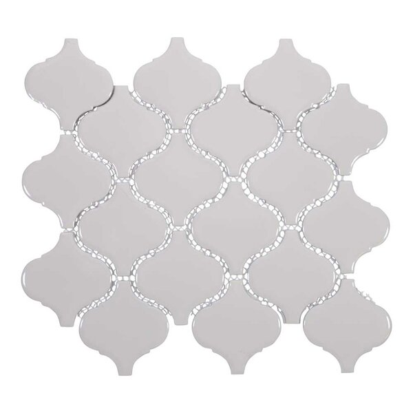 Arabesque 3 x 3 Porcelain Mosaic Tile in Beige by Giorbello