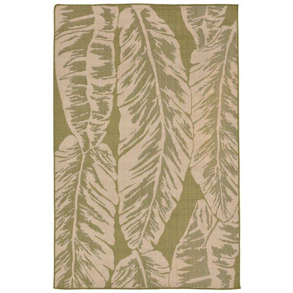 Lambert Banana Leaf Power Loom Green Indoor/Outdoo