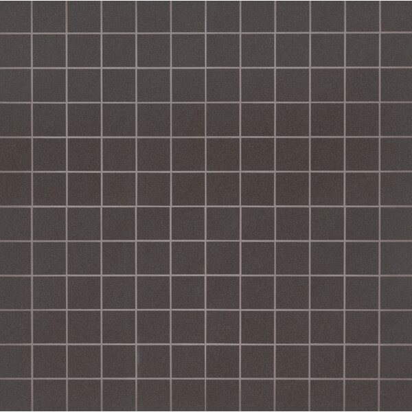 Optima Graphite Mesh-Mounted 2 x 2 Polished Porcelain Fiel Tile in Gray by MSI