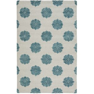 Soho Ivory/Blue Area Rug
