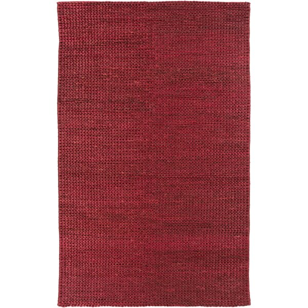 Tai Hand Woven Burgundy Area Rug by Bay Isle Home