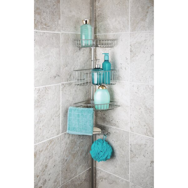 Callum 3 Tier Corner Tension Pole Shower Caddy with Soap Dish by Rebrilliant