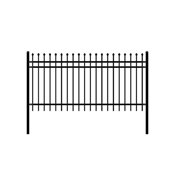 8 ft. W Rome DIY Unassembled Steel Fence Panel by ALEKO