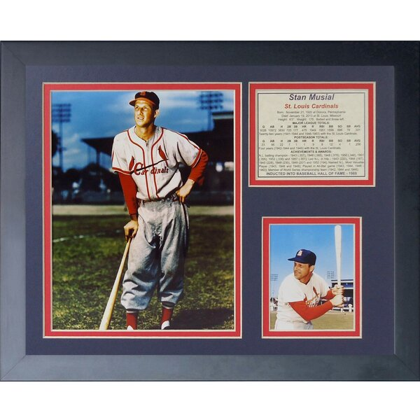 Stan Musial Framed Memorabilia by Legends Never Die