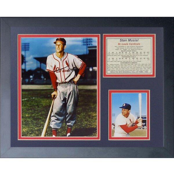 Stan Musial Framed Memorabilia by Legends Never Die