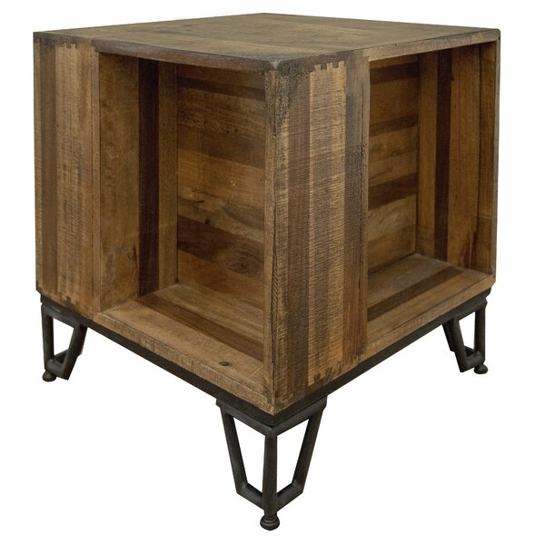 Monahan Solid Wood End Table With Storage By Foundry Select
