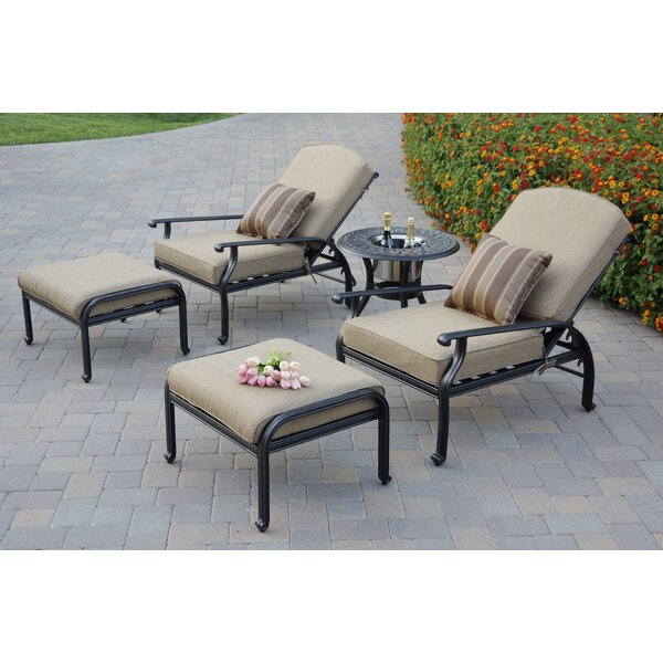 Lincolnville Adjustable Patio Chair With Cushions (Set Of 2) By Fleur De Lis Living