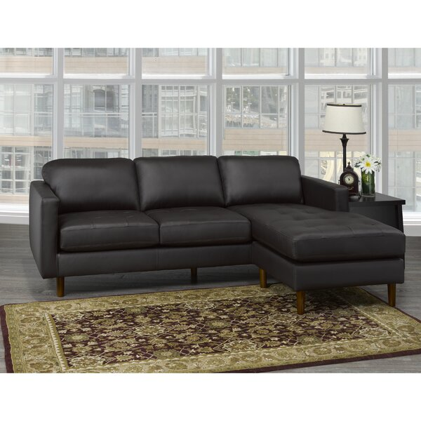Review Treva Right Hand Facing Leather Sectional